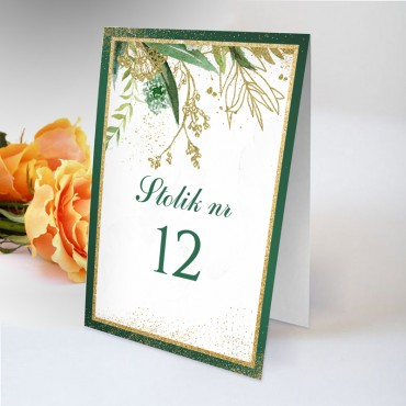 Numery stolików na wesele Botaniczne 02