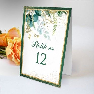 Numery stolików na wesele Botaniczne 04