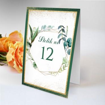 Numery stolików na wesele Botaniczne 05