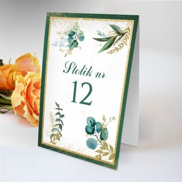 Numery stolików na wesele Botaniczne 06