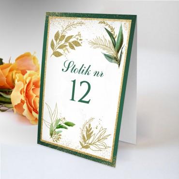Numery stolików na wesele Botaniczne 07