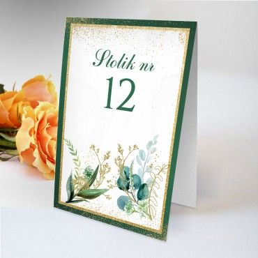 Numery stolików na wesele Botaniczne 08