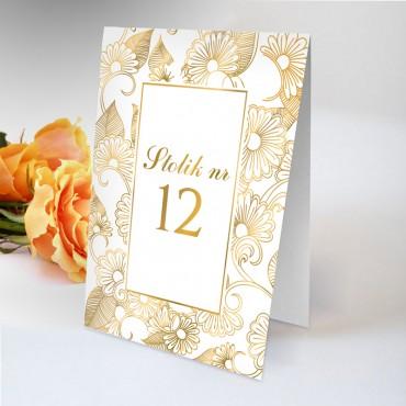 Numery stolików na wesele...