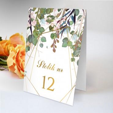 Numery stolików na wesele Kwiatowe 02B