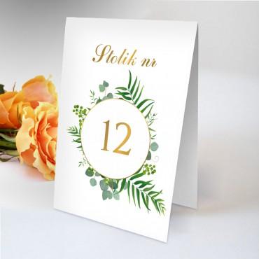 Numery stolików na wesele Kwiatowe 03B