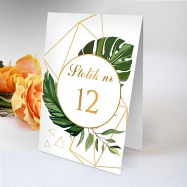Numery stolików na wesele Kwiatowe 04B