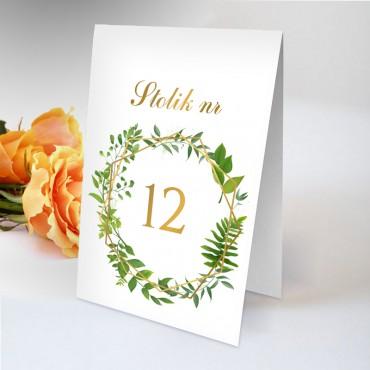 Numery stolików na wesele Kwiatowe 06B