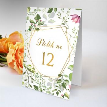 Numery stolików na wesele Kwiatowe 07B
