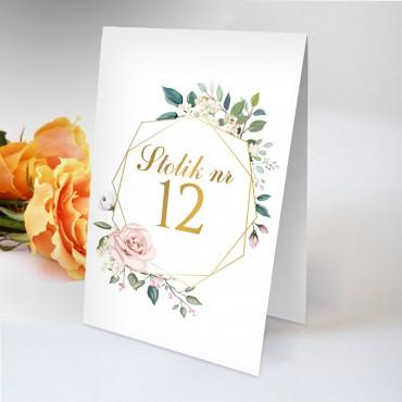 Numery stolików na wesele Kwiatowe 08B