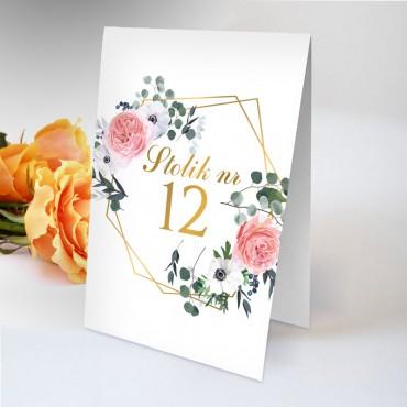 Numery stolików na wesele Kwiatowe 09B