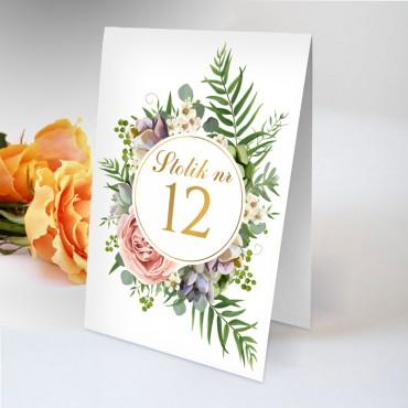 Numery stolików na wesele Kwiatowe 10B