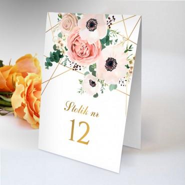 Numery stolików na wesele Kwiatowe 12B
