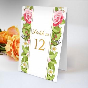 Numery stolików na wesele Kwiatowe 13B
