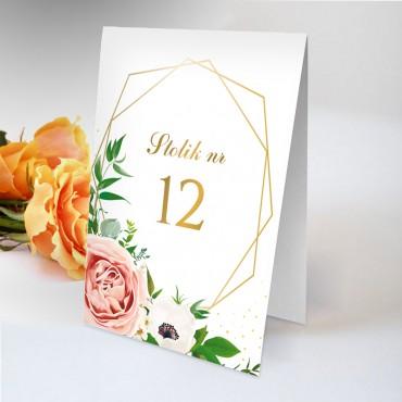 Numery stolików na wesele Kwiatowe 15B