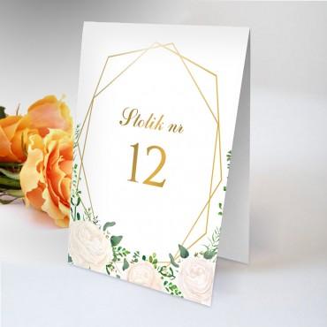 Numery stolików na wesele Kwiatowe 16B