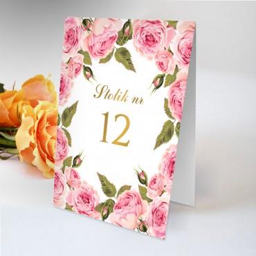 Numery stolików na wesele Kwiatowe 17B