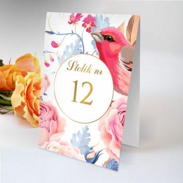Numery stolików na wesele Kwiatowe 18B