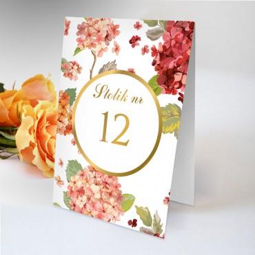 Numery stolików na wesele Kwiatowe 20B