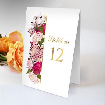 Numery stolików na wesele Kwiatowe 21B