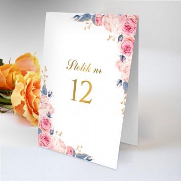 Numery stolików na wesele Kwiatowe 24B