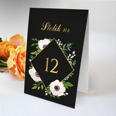 Numery stolików na wesele Kwiatowe 01A