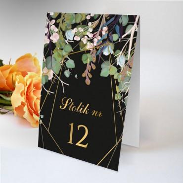 Numery stolików na wesele Kwiatowe 02A
