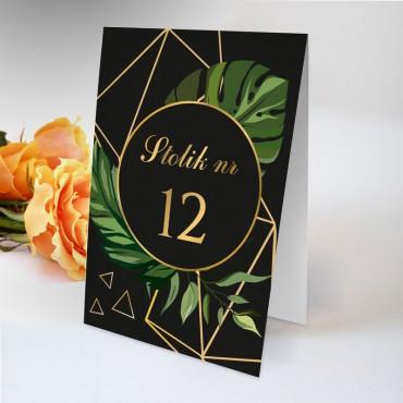 Numery stolików na wesele Kwiatowe 04A