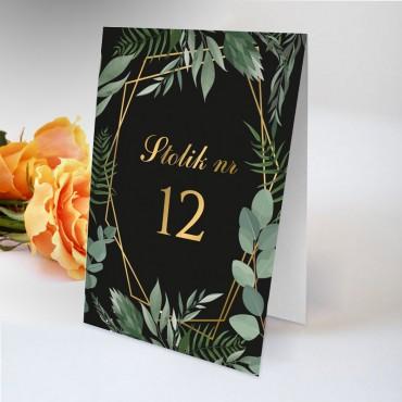 Numery stolików na wesele Kwiatowe 05A
