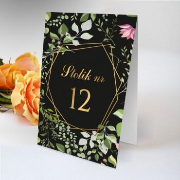 Numery stolików na wesele Kwiatowe 07A