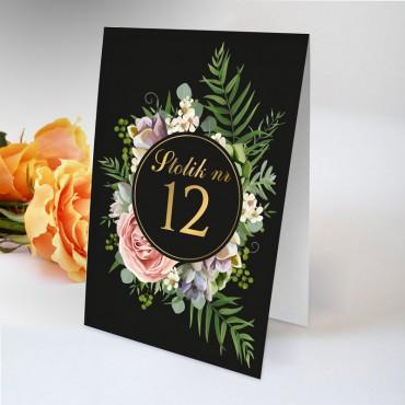 Numery stolików na wesele Kwiatowe 10A