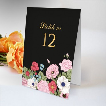 Numery stolików na wesele Kwiatowe 11A
