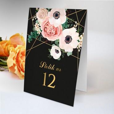 Numery stolików na wesele Kwiatowe 12A