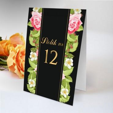 Numery stolików na wesele Kwiatowe 13A