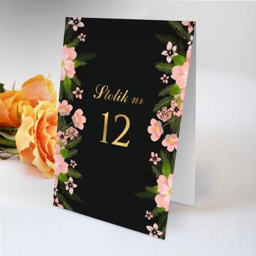 Numery stolików na wesele Kwiatowe 14A