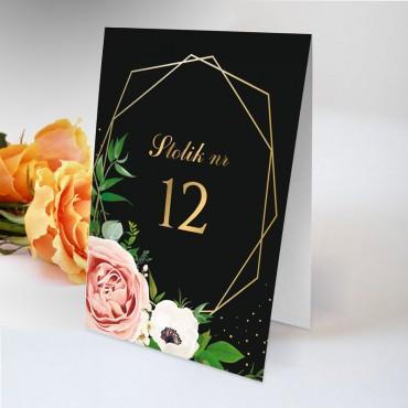 Numery stolików na wesele Kwiatowe 15A