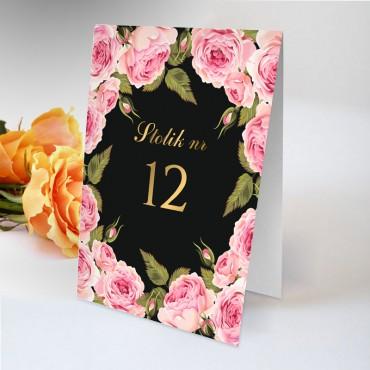 Numery stolików na wesele Kwiatowe 17A