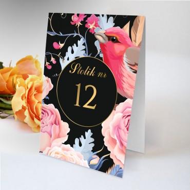 Numery stolików na wesele Kwiatowe 18A