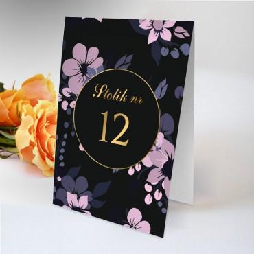Numery stolików na wesele Kwiatowe 19A