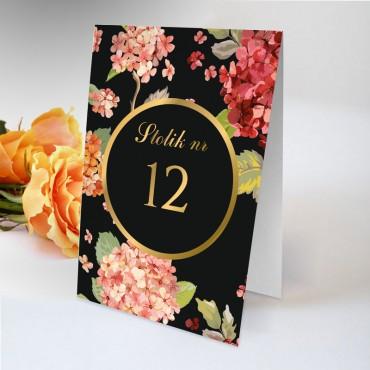 Numery stolików na wesele Kwiatowe 20A