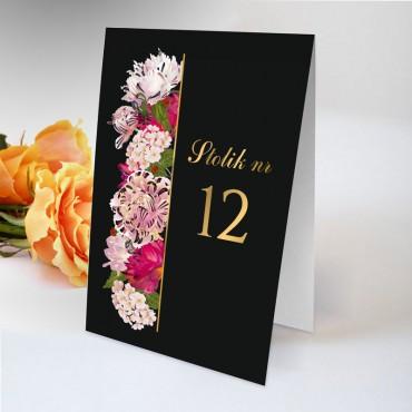 Numery stolików na wesele Kwiatowe 21A