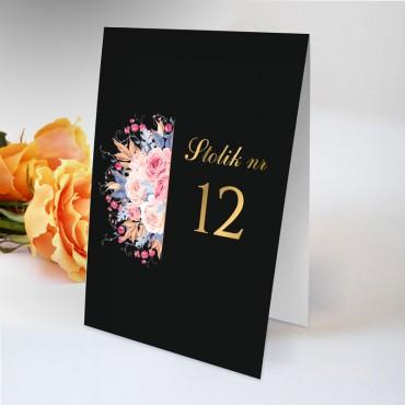Numery stolików na wesele Kwiatowe 22A