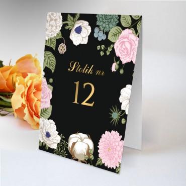 Numery stolików na wesele Kwiatowe 23A