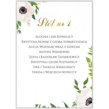 Plan stołów na wesele Kwiatowy 01b