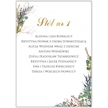 Plan stołów na wesele Kwiatowy 02b
