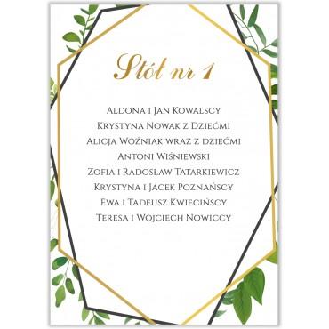 Plan stołów na wesele Kwiatowy 06b