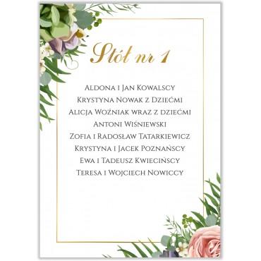 Plan stołów na wesele Kwiatowy 10b