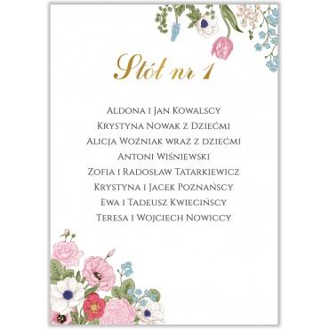 Plan stołów na wesele Kwiatowy 11b