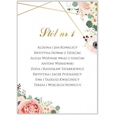 Plan stołów na wesele Kwiatowy 12b