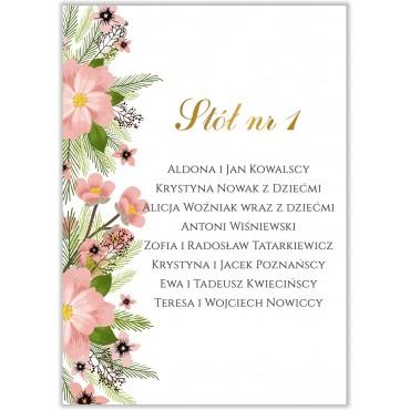 Plan stołów na wesele Kwiatowy 14b