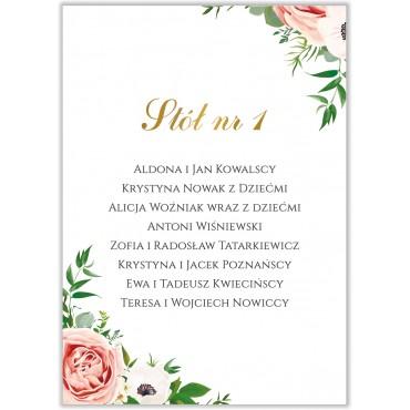 Plan stołów na wesele Kwiatowy 15b